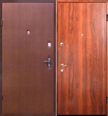 двери входные ламинат снаружи и внутри